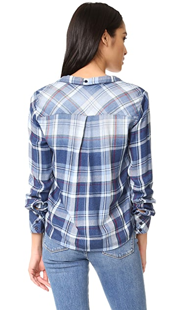 Bella Dahl Tie Front Button Down Top