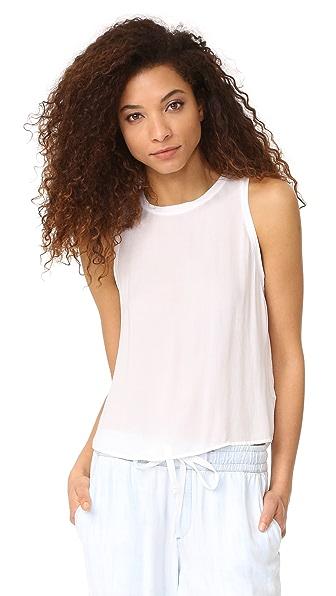 Bella Dahl Button Back Blouse - White