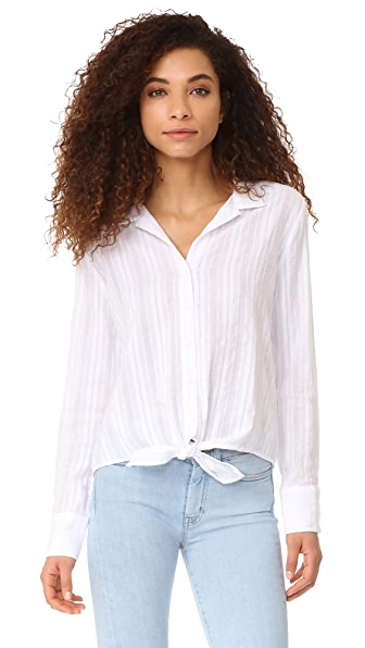 Bella Dahl Tie Front Button Down Blouse