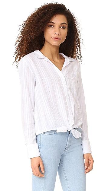 Bella Dahl Tie Front Button Down Blouse