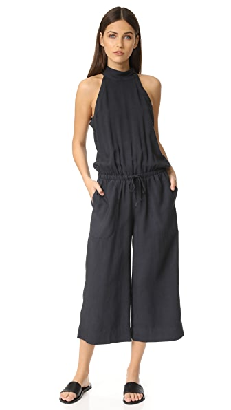 Bella Dahl Mock Neck Jumpsuit - Smoke Pearl