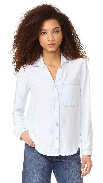 Bella Dahl Блуза на пуговицах с закругленной кокеткой