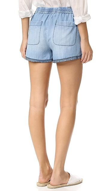 Bella Dahl Blanket Stitched Shorts