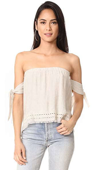 Bella Dahl Tie Sleeve Off Shoulder