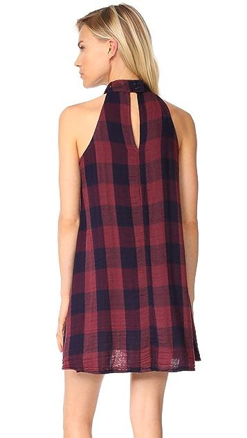Bella Dahl Mock Neck Halter Dress