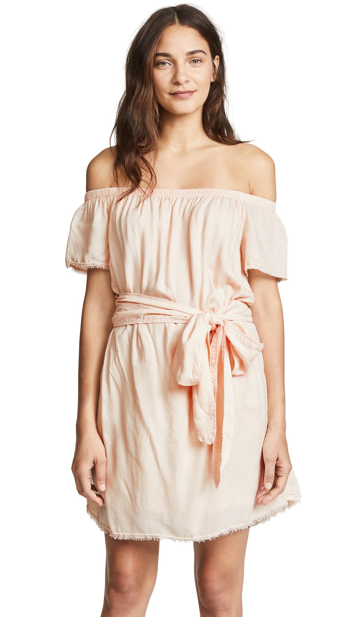 Bella Dahl Belted Off Shoulder Dress