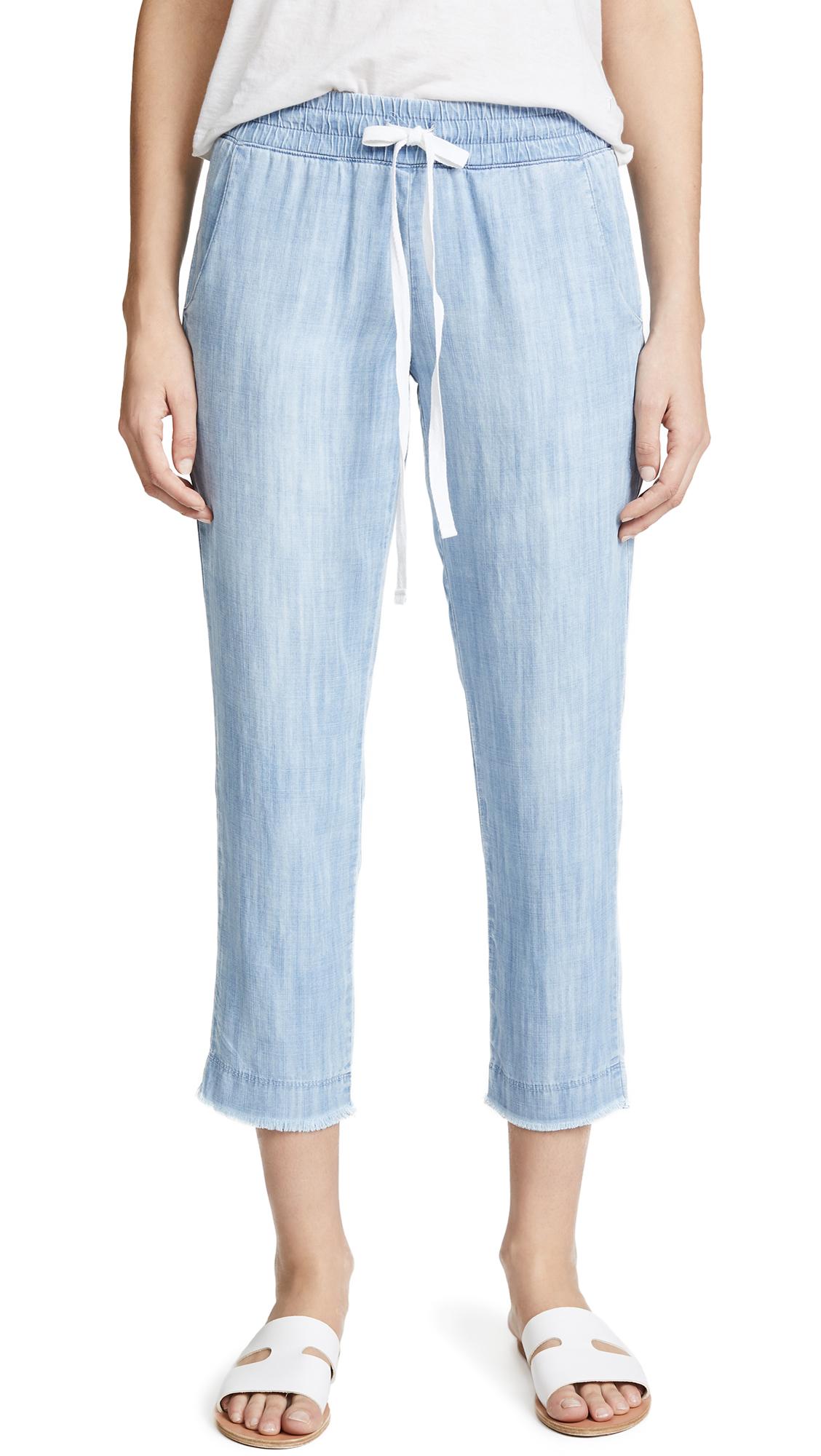 Bella Dahl Frayed Hem Trousers