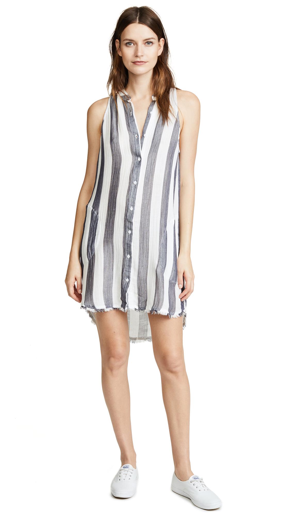 Bella Dahl Frayed Button Down Dress