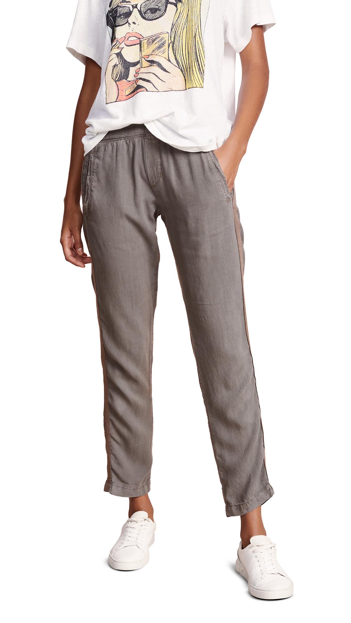 Bella Dahl Welt Pocket Trousers - Army Olive