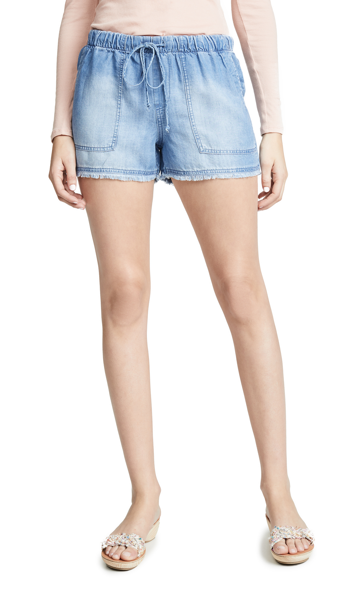 Bella Dahl Fray Hem Ombré Shorts