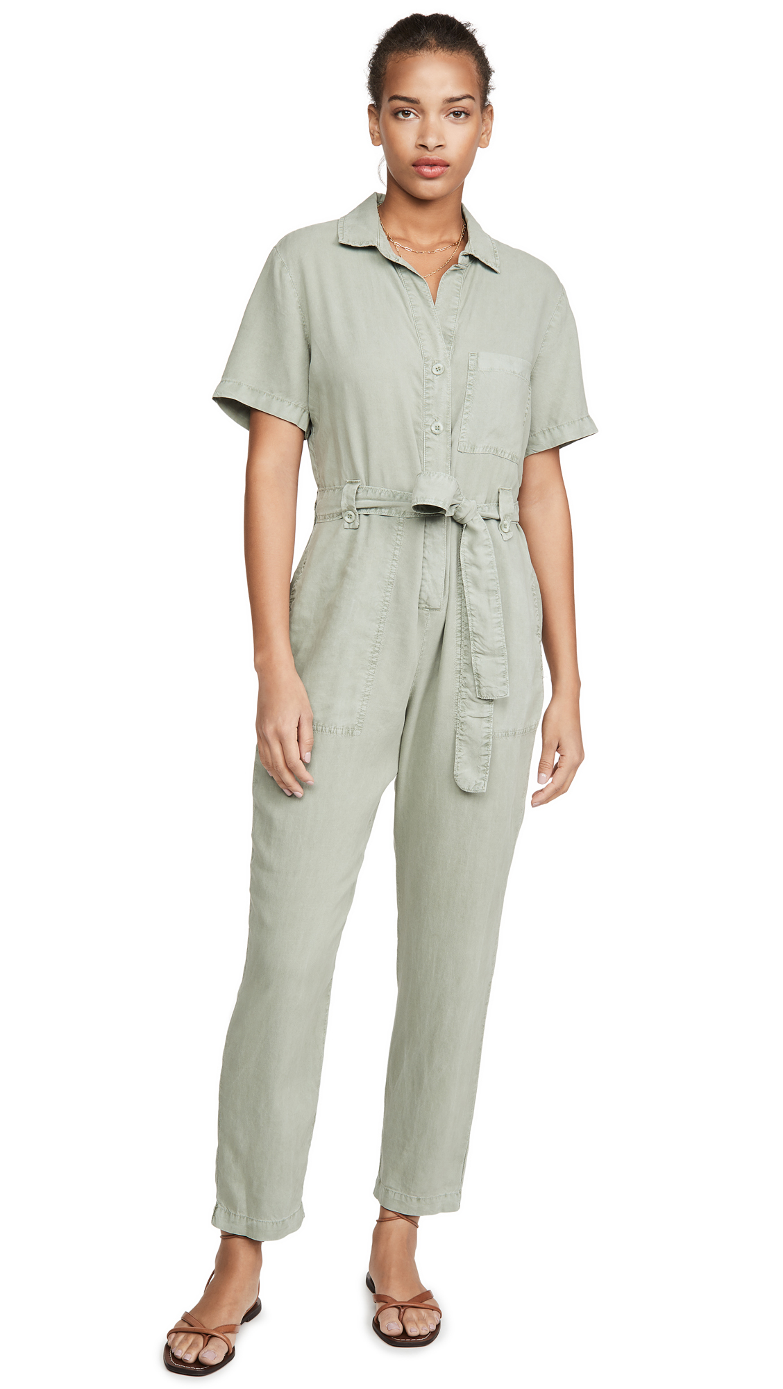 Buy Bella Dahl online - photo of Bella Dahl Button Front Jumpsuit
