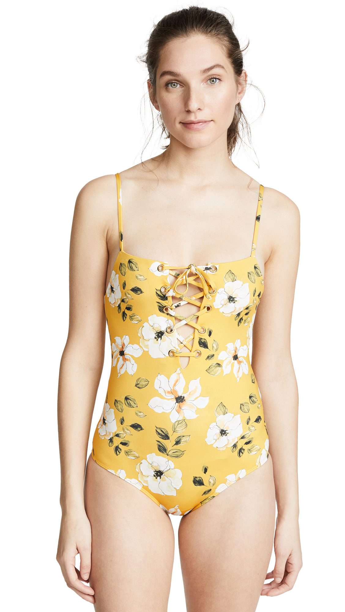 Beach Riot x Stone Cold Fox Floral One Piece Swimsuit