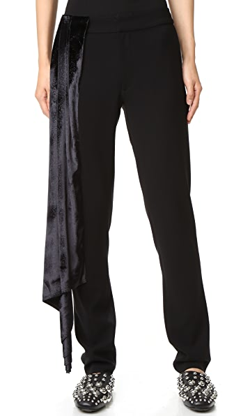 Baja East Sparkle Velvet Pants - Galaxy