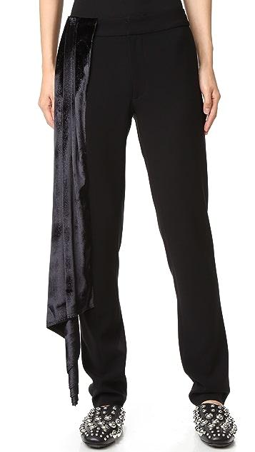 Baja East Sparkle Velvet Pants