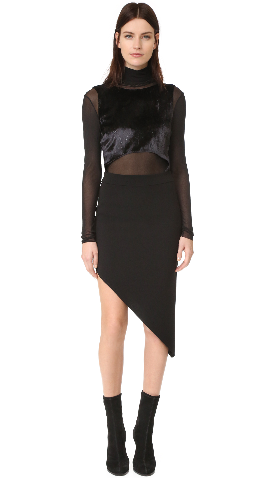 Baja East Cutout Asymmetrical Hem Dress