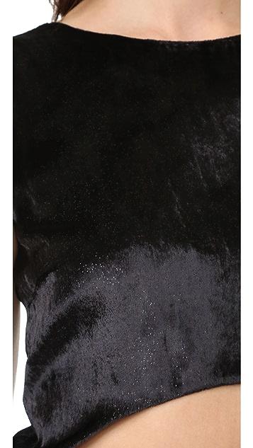Baja East Cutout Asymmetrical Hem Dress