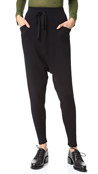 Baja East Rib Drop Crotch Pants