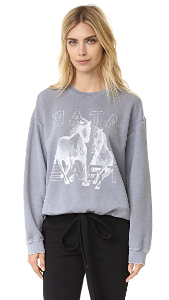 Baja East Printed Sweatshirt In Pumice