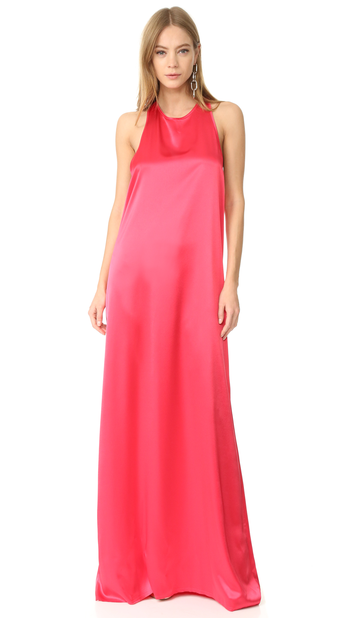 Baja East Sleeveless Maxi Dress - Fuchsia