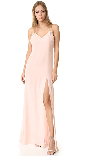 Baja East Sleeveless Gown In Light Pink