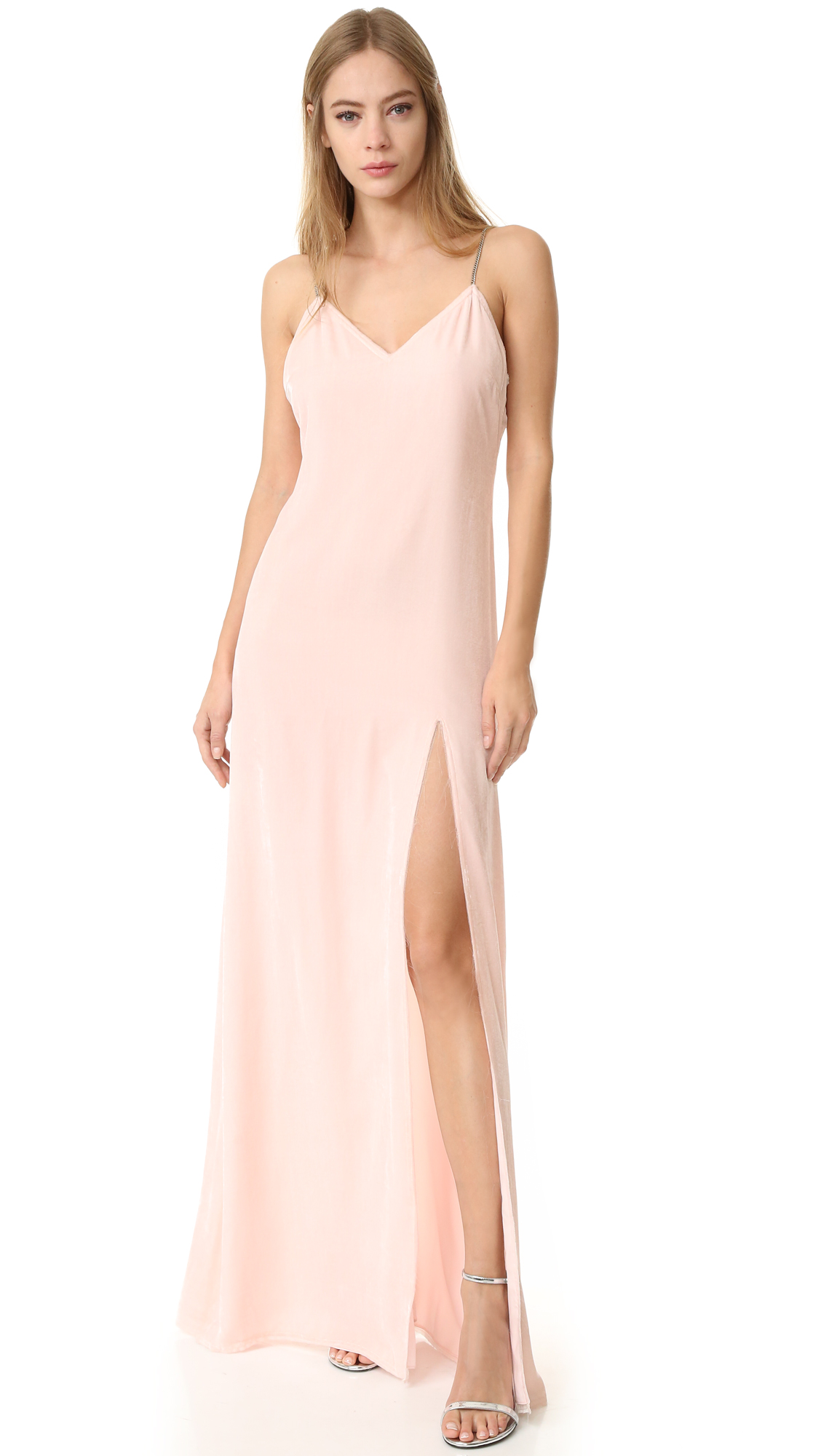 Baja East Sleeveless Gown - Light Pink