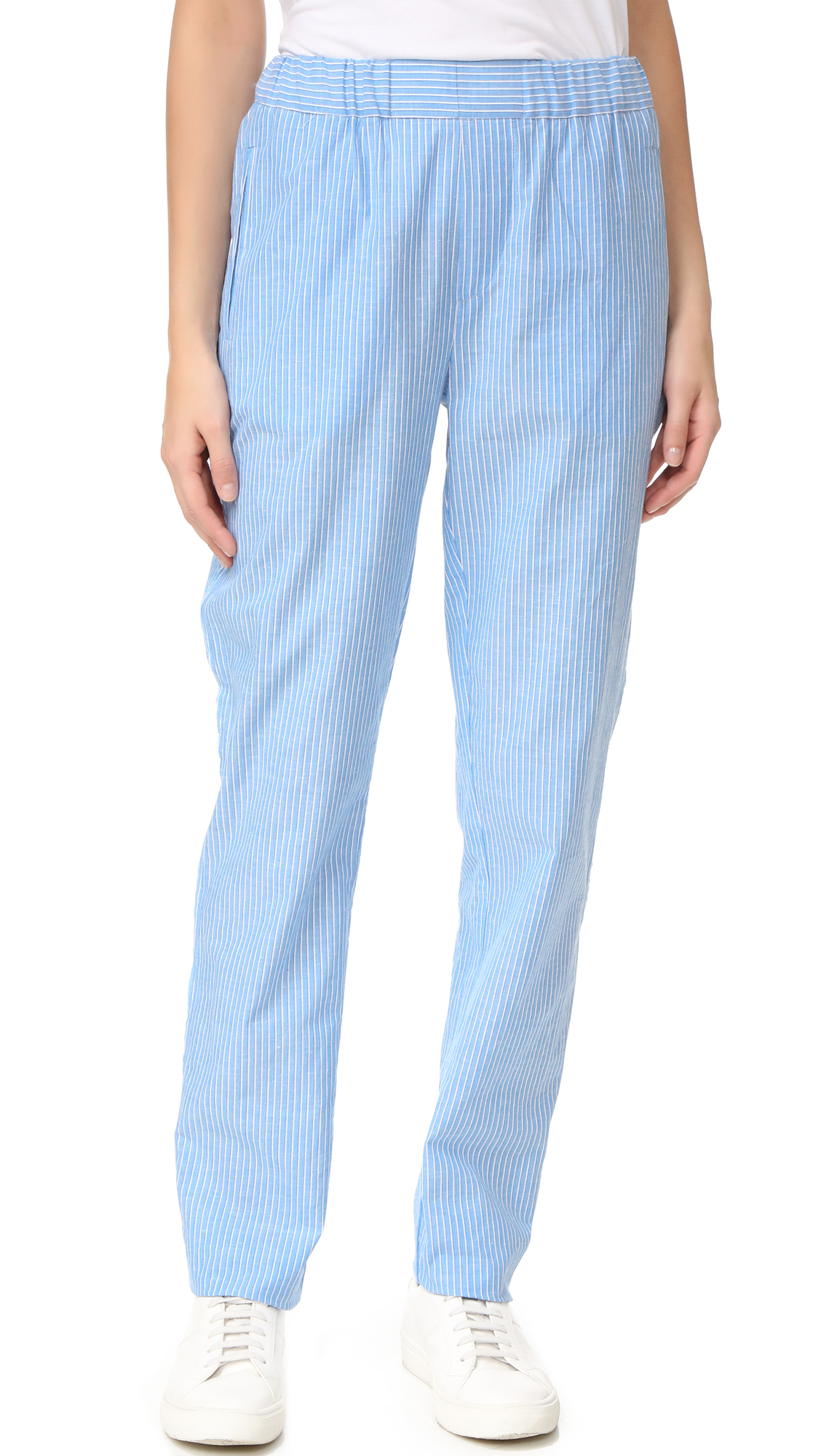 Baja East Striped Pants - Malibu Blue
