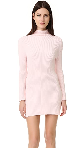 Baja East Long Sleeve Dress - Light Pink