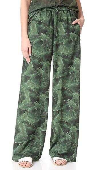 Baja East Palm Print Pants - Palm