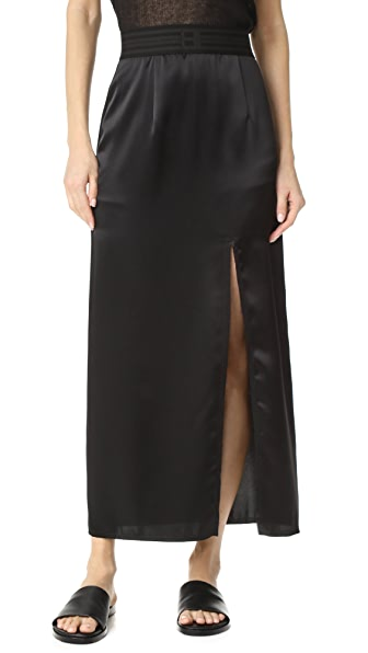 Baja East Satin Skirt