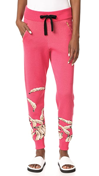 Baja East x Minions Printed Sweatpants - Pink