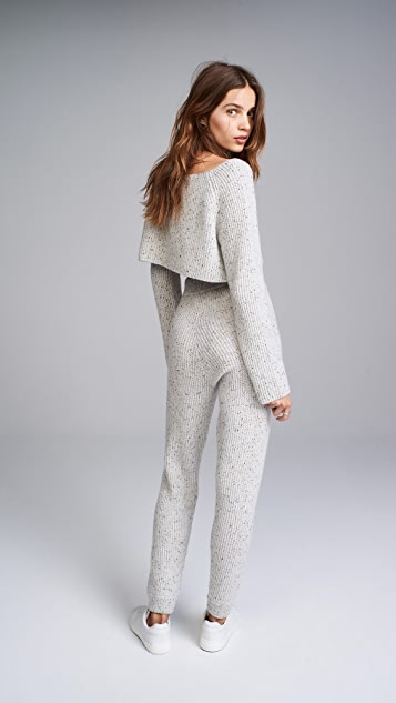 Baja East Cashmere Cropped Sweater
