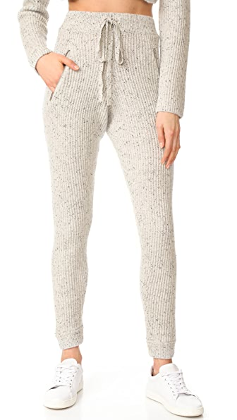 Baja East Cashmere Ankle Joggers In Light Grey