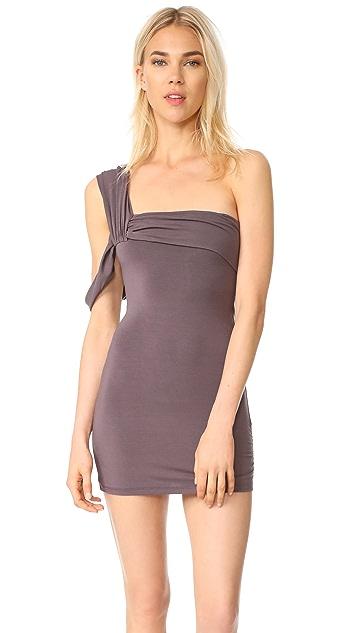 Baja East One Shoulder Dress