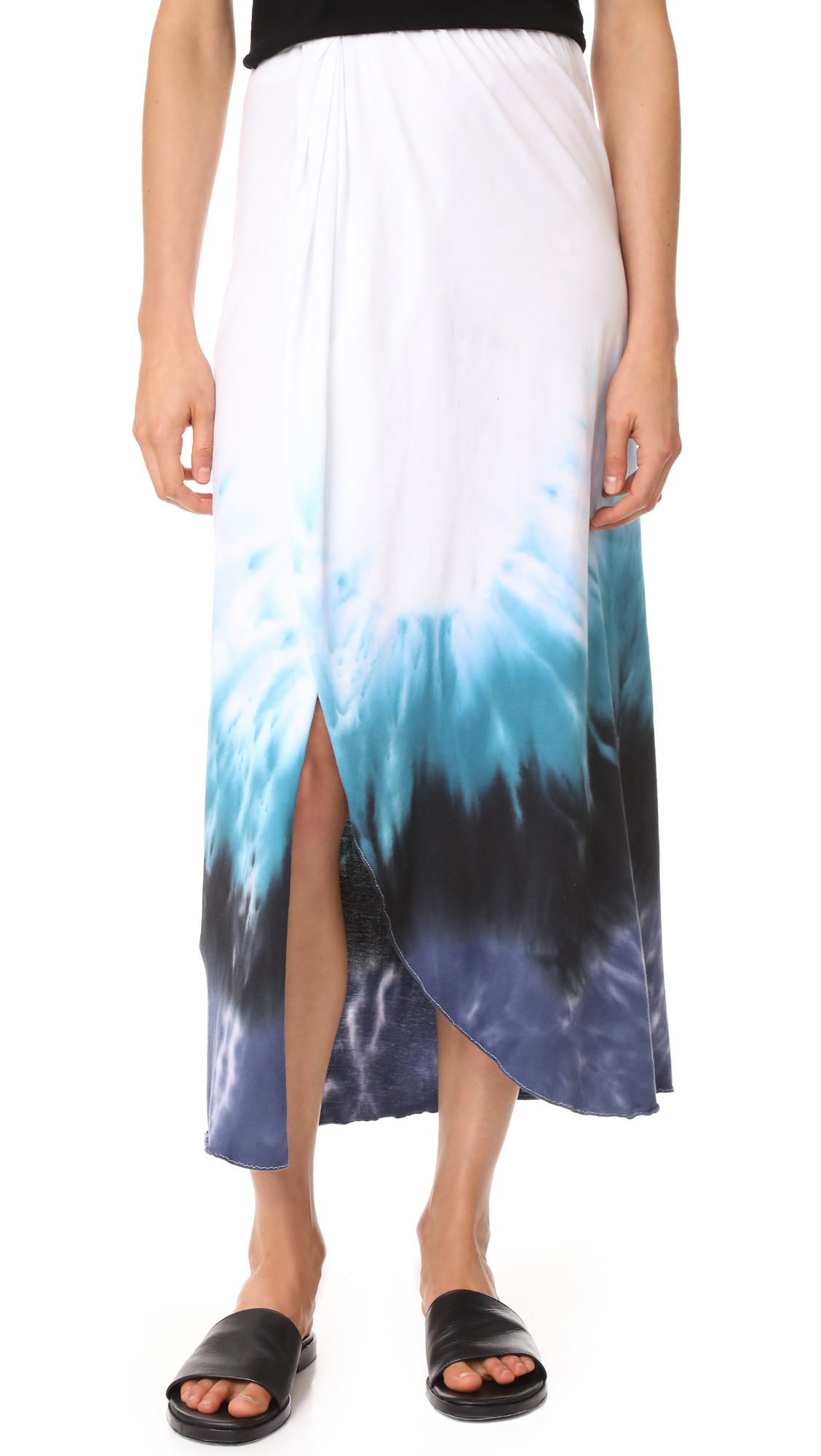 Baja East Midi Skirt - Blue