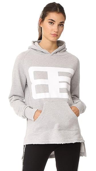 Baja East Graphic Hoodie In Light Grey