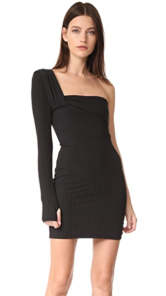 Baja East One Sleeve Dress In Embassy