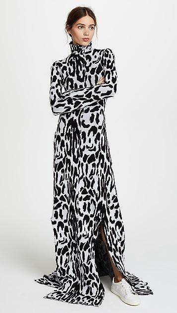 Baja East Turtleneck Long Sleeve Dress