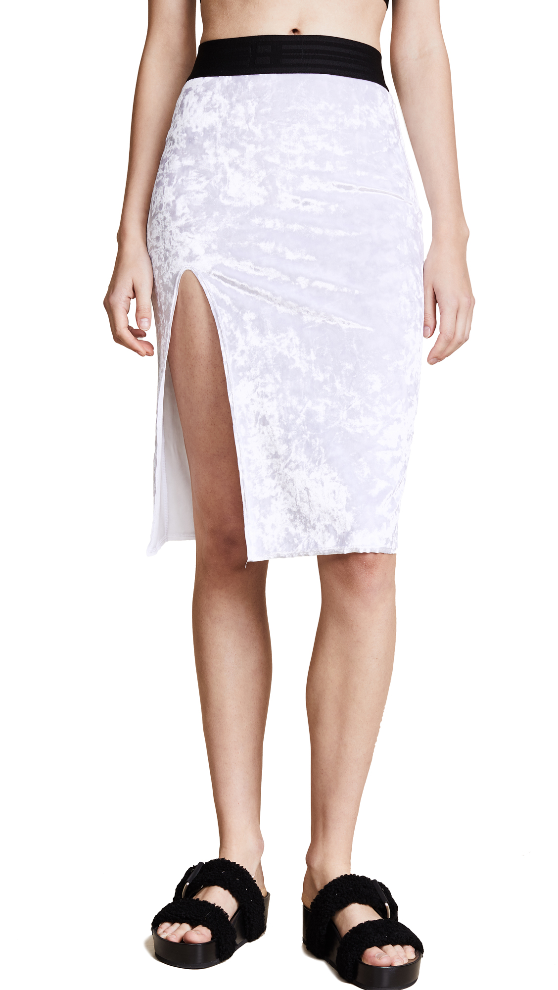 Baja East Velour Skirt - Pearl
