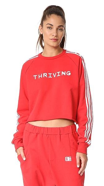 Baja East Thriving Terry Crop Sweatshirt