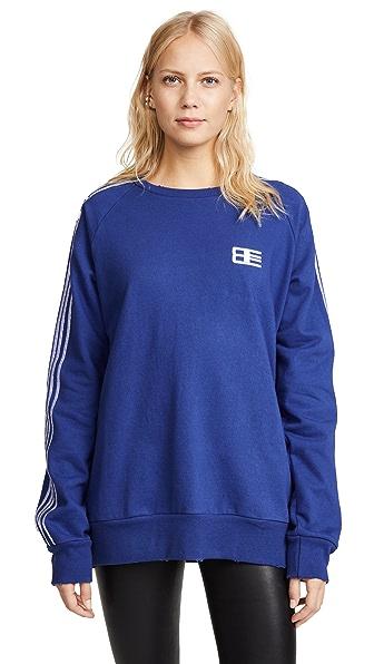 Baja East Embroidered Crew Sweatshirt In Midnight