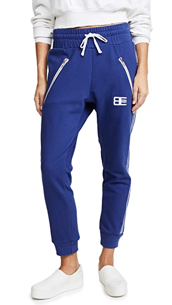 Baja East Embroidered Sweatpants In Midnight