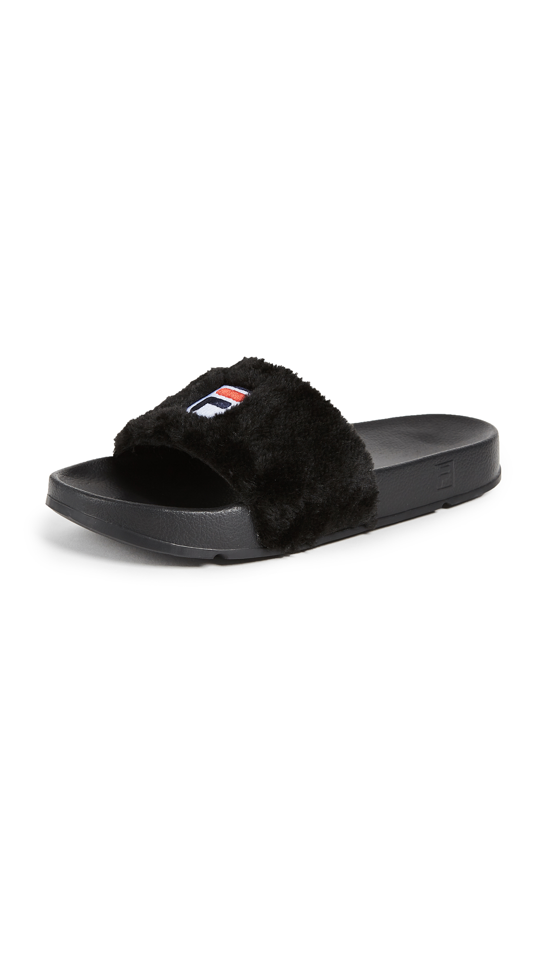 Baja East x FILA Sherpa Pool Slides - Black
