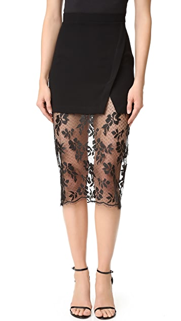 Bec & Bridge Black Roses Skirt