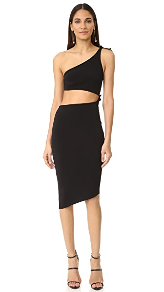 Bec & Bridge Onyx Asymmetrical Dress