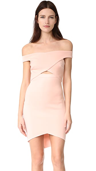 Bec & Bridge Desert of Paradise Off Shoulder Mini Dress - Blush