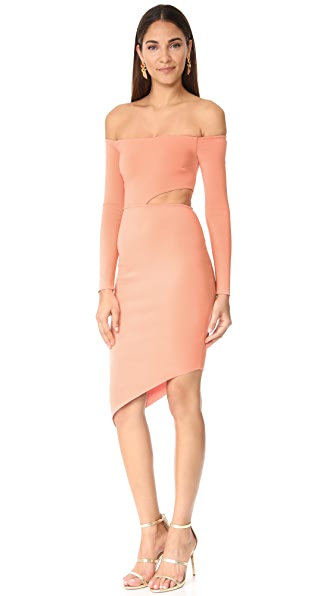 Bec & Bridge Salt Lake Long Sleeve Dress In Blush
