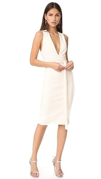 Bec & Bridge Luminous Plunge Dress In Ivory