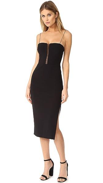 Bec & Bridge Heartbreaker Midi Dress - Black