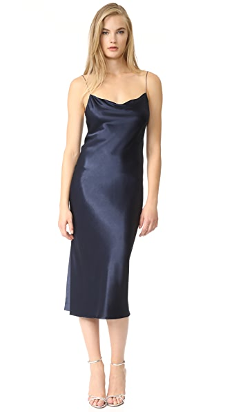 Bec & Bridge Sirens Midi Dress In French Navy