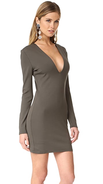 Bec & Bridge Long Sleeve Reversible Mini Dress